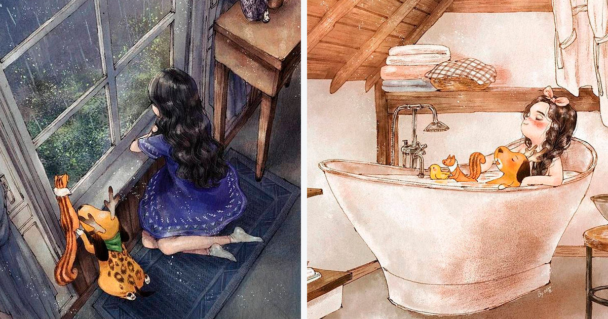 Illustrator Perfectly Captures The Happiness Of Living Alone In 25+ Illustrations