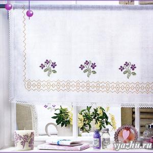 Схемы вышивки для занавески