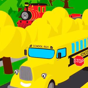 Мультики раскраски автобусы