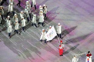 Россияне вышли под олимпийским флагом на церемонии открытия Игр в Пхенчхане