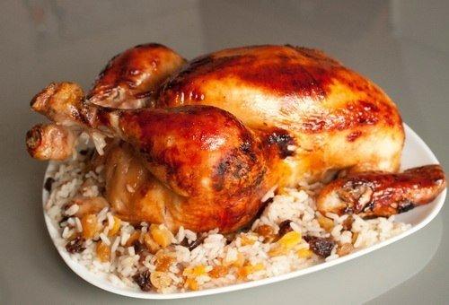 Курица фаршированная рис…