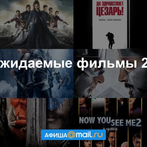 Самые ожидаемые фильмы 2 16 по версии Афиши