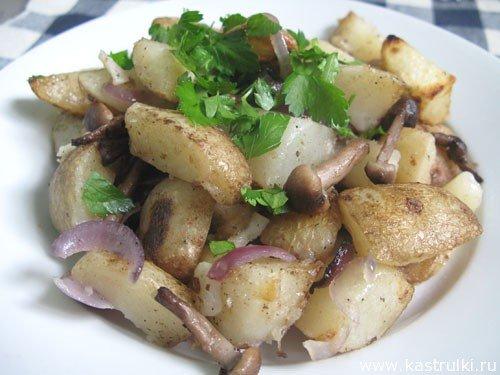 Картошка, жаренная с опя…