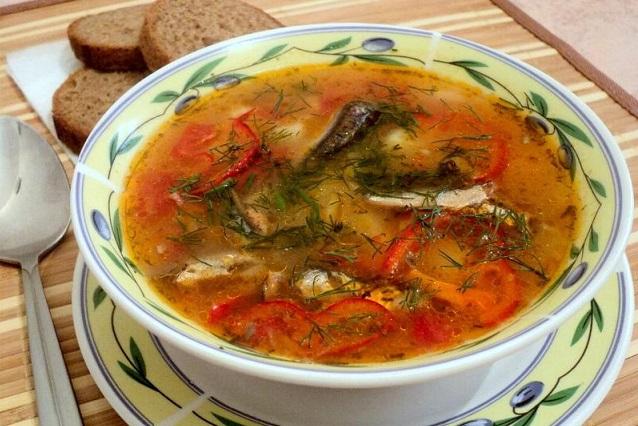 Вкуснейший суп из кильки в томате