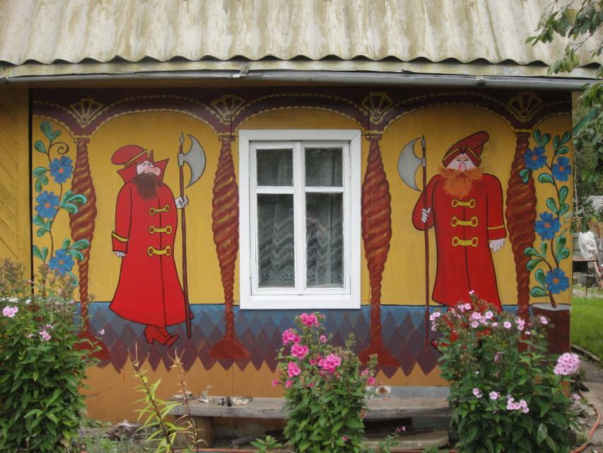 Роспись дачных домиков