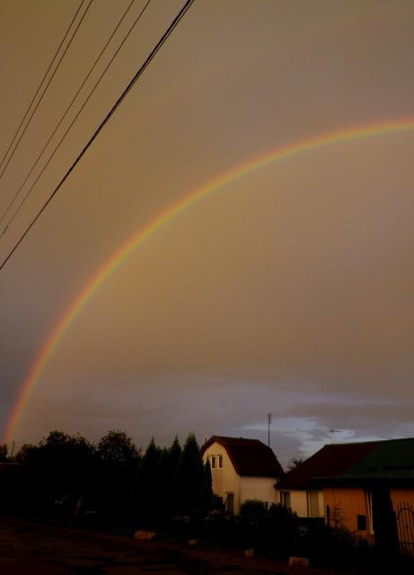 Гало радуга над моей улицей перед солнечным затмением 21.08.17