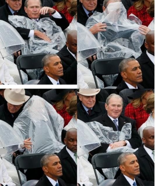 Джордж Буш-младший в своем стиле