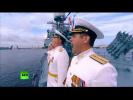 Путин принимает военно-морской парад в честь Дня ВМФ