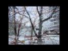 Зима. Раскрашенный снег. Парк. Иней