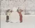 милый снеговичек