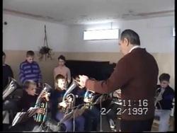 Репетиция детского духового оркестра 1997 г