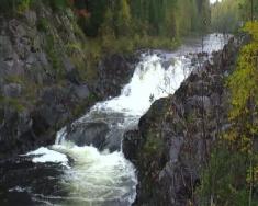 водопад кивач.