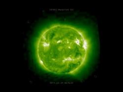 Гигантские НЛО у Солнца 21марта 2011год