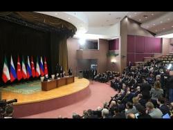 Пресс-конференция по итогам встречи президентов России, Ирана и Турции