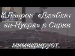 Лавров  «Джабхат ан Нусра» в Сирии мимикрирует