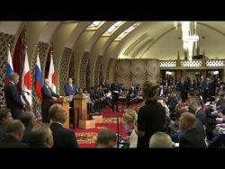 Пресс-конференция по итогам российско-японских переговоров