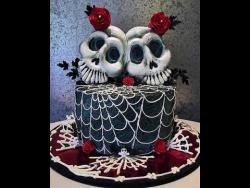 Торт на Хэллоуин (Halloween). Оформление торта