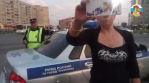 В Ульяновске Девушка представившись журналистом устроила разборки на проезжей части
