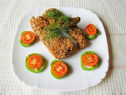 Куриное  филе в кунжутной  панировке. Рецепт отличной закуски к пиву