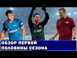 Обзор первой половины сезона РФПЛ 2016-2017