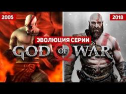 Эволюция серии игр God of War (2005 - 2018)
