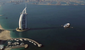 Тестирование Беспилотного летающего такси Ehang 184 в небе над Дубаем