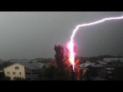 Гнев небес! Мощные удары молний