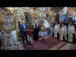 Выступление по окончании молебна в Русском на Афоне Свято-Пантелеимоновом монастыре