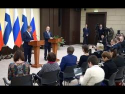 Заявления для прессы и ответы на вопросы журналистов по итогам российско-финляндских переговоров