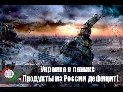 Украина в панике - Продукты из России дефицит!