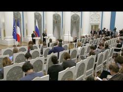 Пресс-конференция по итогам встречи с Президентом Франции Франсуа Олландом