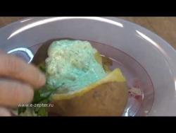 Картофель с творогом и зеленью - видео рецепт