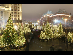 Новогодняя Москва 2017-2018 (обзор из центра столицы): праздник к нам приходит!
