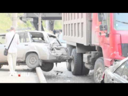 ДТП в Челябинске: самосвал HOWO «собрал» 7 легковушек