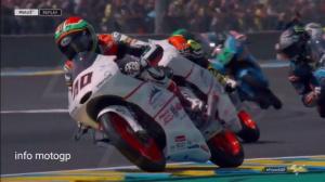 Массовая авария на гонке мотоциклов