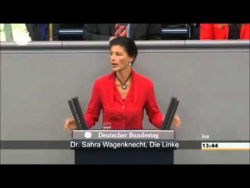 Депутат Бундестага Сара Вагенкнехт (Sahra Wagenknecht) громит Штайнмайера, НАТО, Госдеп и лично фрау канцлерин Ангелу Меркель – за всю Украину, по всем пунктам.