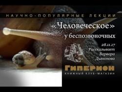 """""""Человеческое"""" у беспозвоночных"""". """"Гиперион"""", 28.11.17"""