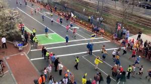 Организация движения пешеходов во время Бостонского марафона
