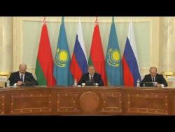Заявление для прессы по итогам встречи лидеров России, Белоруссии и Казахстана