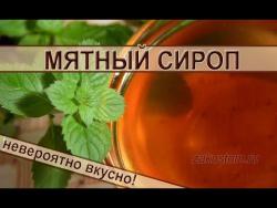 Мятный сироп - рецепт приготовления вкуснейшего домашнего лакомства