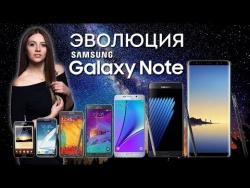 Эволюция Samsung Galaxy Note