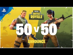 Fortnite – Battle Royale 50v50 Announce Trailer | PS4