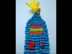 Фенечки прямого плетения несколько цветов - 1 урок (основы)