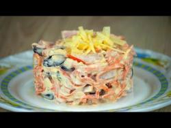 Cалат с морковью по-корейски и ветчиной. Лучшие рецепты от wowfood.club