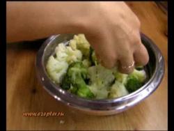 Овощное ассорти из капусты в пароварке Цепетр (Zepter)