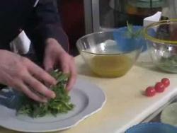 Салат рукола с креветками