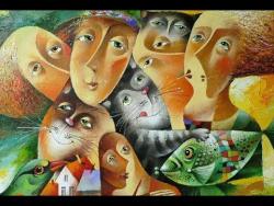 Шуточные картины о самом светлом чувстве  (Автор картин  Юрий Мацик ) Песня Ша Лу Ла Виктор Королев