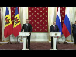 Совместная пресс-конференция с Президентом Молдовы Игорем Додоном