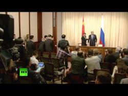 Пресс-конференция глав МИД России и Китая