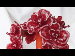 Цветы из бисера | Зимняя орхидея | МК
